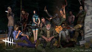 데바데 생존자 캐릭터들이 모여서 찍은 사진